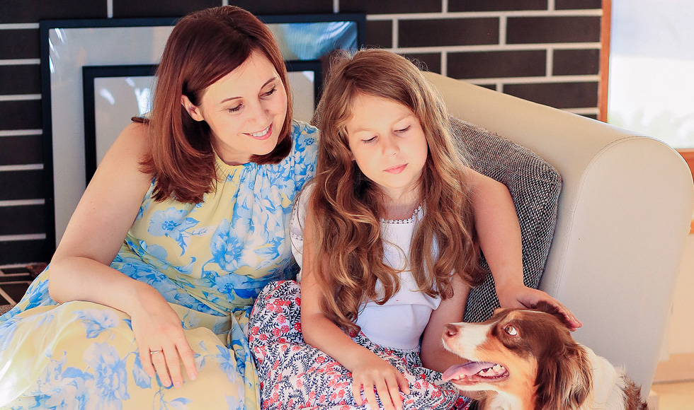 Яна Катаева с дочерью