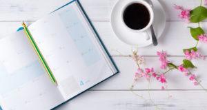 ежедневник и кофе