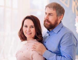 Яна Катаева с мужем